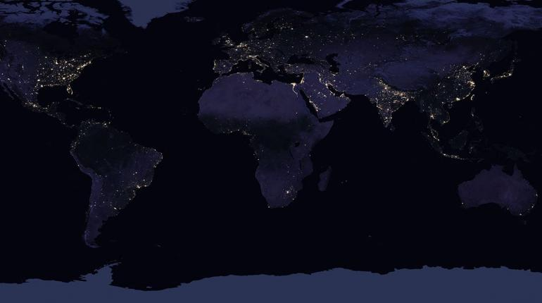 Can nasas night time maps depict economic inequality for real this how the continental united states looks like at night 2016 notice the remarkable pool of light that shines on the east coast and nearby areas of the publicscrutiny Images