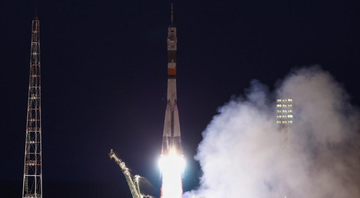 3-man crew from Italy, Russia & US blasts off to International Space Station