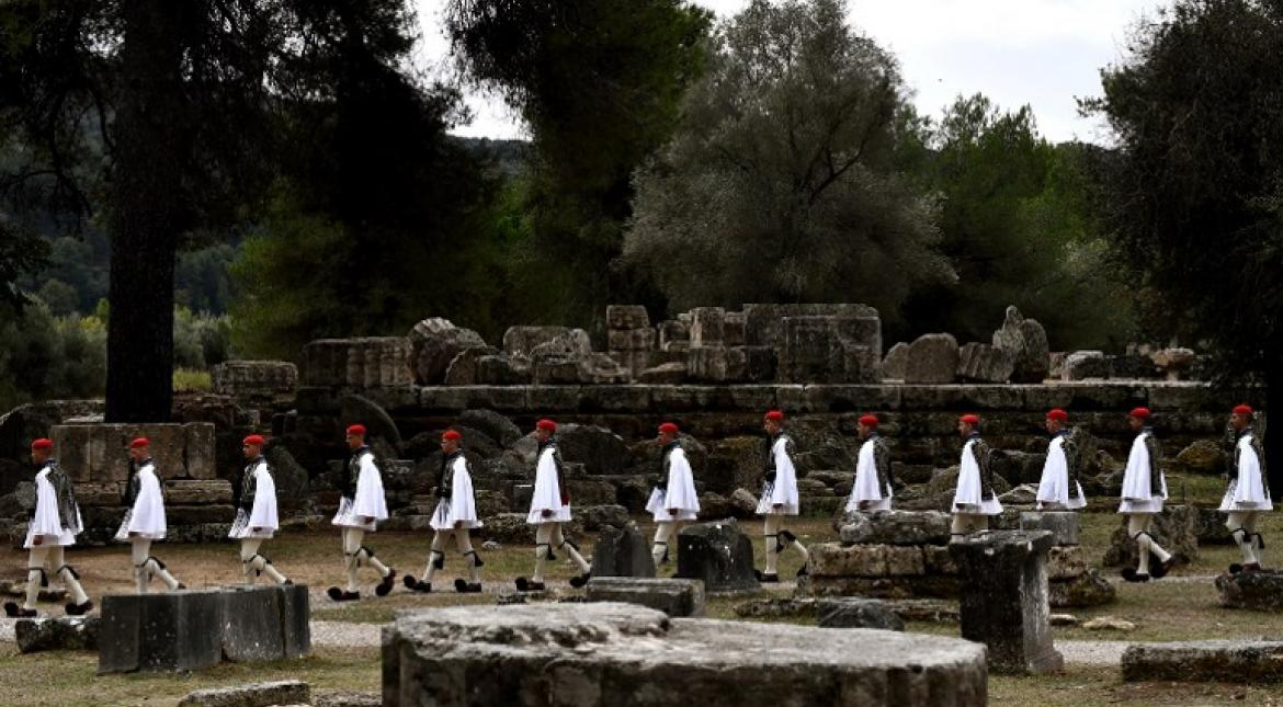 Winter Olympic flame lit at the Temple of Hera