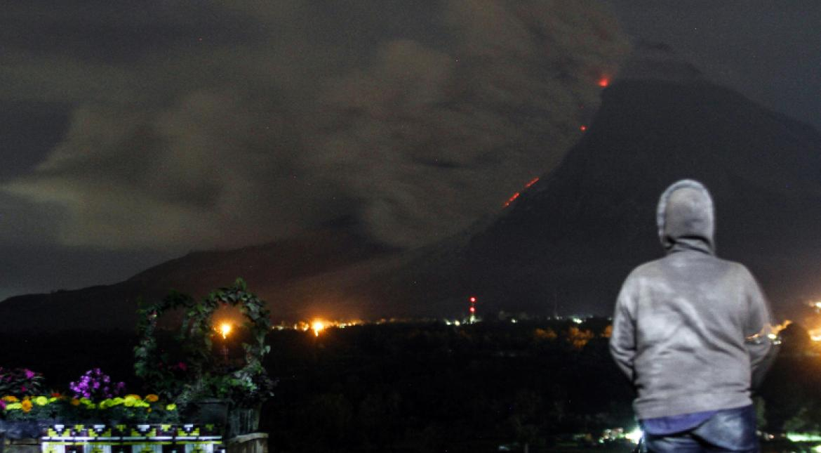 Indonesia's Mount Sinabung volcano erupts, several evacuated