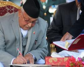 Nepal PM Oli vows to develop Province number 2