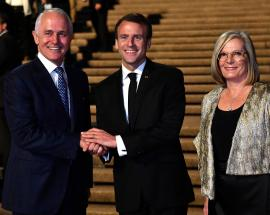Wife flattered over Macron's 'delicious' remark: Turnbull