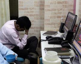 Sensex starts on negative note, falls 51 points