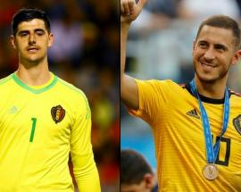 Eden Hazard and Thibaut Courtois futures in board's hands says Maurizio Sarri
