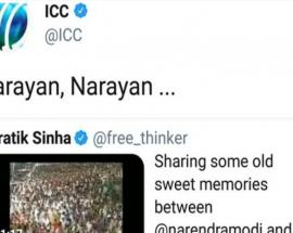'Narayan Narayan,' retweets ICC on Asaram Bapu, PM Modi video together