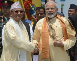 Modi, Nepal PM Oli flag off Janakpur-Ayodhya bus service