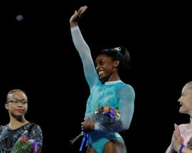 Simone Biles wins fifth all-around title at US Champs
