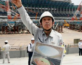 Construction of new stadium on track for Tokyo 2020 Olympics