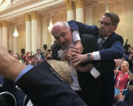 Helsinki summit: Reporter forcibly removed from Trump-Putin conference