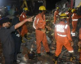 In pictures: 4 dead after six-storey building falls on 4-storey building in Greater Noida