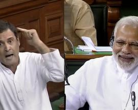 No-confidence vote in Pics: Rahul acts, PM Modi defies