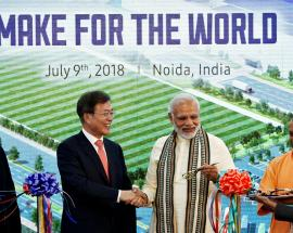 In pictures: Modi, South Korea President inaugurate world's largest mobile phone factory in India