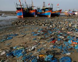 World Environment Day: Vietnam beach awash with tide of blue waste