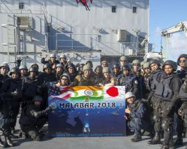 In pics: Indian Navy exercise with US Navy and Japan Marines during 'Ex-Malabar 2018'