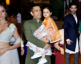 MS Dhoni, Yuvraj Singh, Nushrat Bharucha and others attend Praful Patel's daughter's sangeet