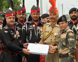 On Pakistan's Independence Day, India, Pakistan border guards exchange sweets