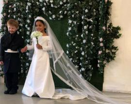 American kids recreate royal wedding for a photoshoot