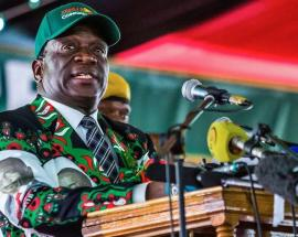 Watch: Zimbabwe President Emmerson Mnangagwa survives blast at election rally