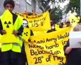 Baloch National Movement stages protest in Germany against 1998 Pakistan nuclear test