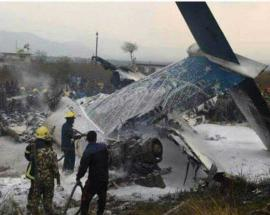 At least 50 dead after plane crashes at Kathmandu Airport