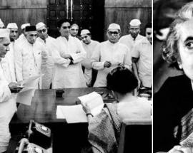 What led Indira Gandhi to declare Emergency?