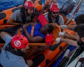 Spanish ship returns home after dramatic migrant rescue