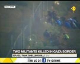 Israeli tank shelling kills 2 militants in Gaza strip