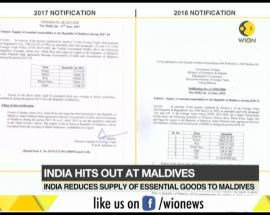India reduces supply of essential goods to Maldives