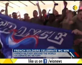 French army celebrates France second World Cup win