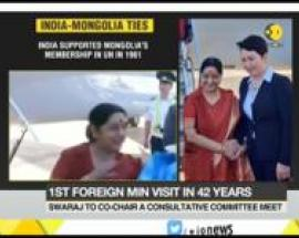 Foreign Minister Sushma Swaraj visits Mongolia: India-Mongolia ties on upswing