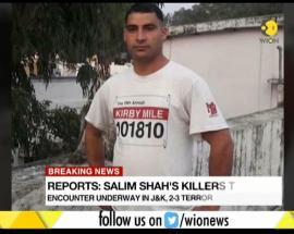 Terrorist who killed policeman Salim Shah shot dead by army