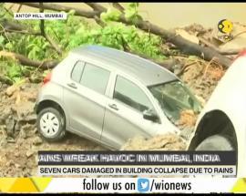 Mumbai rains: Building collapsed, cars damaged due to heavy rains