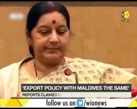 India-Maldives tension: Sushma Swaraj denies change in export policy