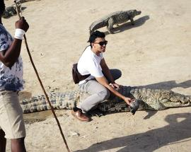 Watch: African village that eats, sleeps and plays with crocodiles