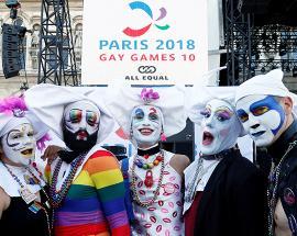 Same-sex duos tango and foxtrot at Paris Gay Games