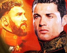 Portrait exhibit features Messi, Ronaldo as 19th-century generals