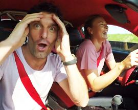 Sharapova teams up with former F1 star Webber for Porsche test drive