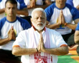 PM Modi leads Yoga Day celebrations in India
