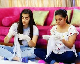 2 Indian girls make, distribute free sanitary pads for underprivileged women