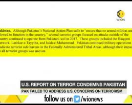 US report on terror condemns Pakistan for failing to address US concern on terrorism