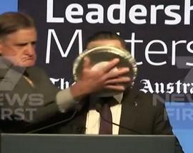 Qantas CEO has pie shoved in face