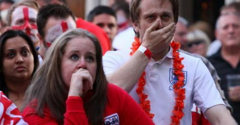 Soccer: Bitter defeat for England fans once again