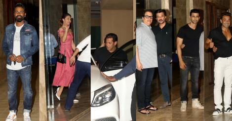 'Race 3' star cast after party at Ramesh Taurani's house in Mumbai