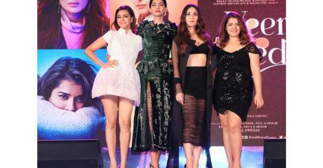 Sonam Kapoor, Kareena Kapoor, Ekta Kapoor, Rhea, Swara, Shikha, Badshah, Sumeet Vyas at the 'Veere Di Wedding' music launch