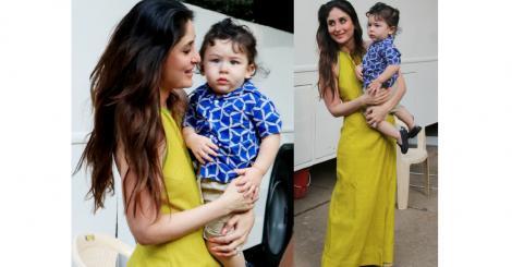 Taimur Ali Khan surprises mommy Kareena Kapoor Khan at the promotions for 'Veere Di Wedding' in Mumbai